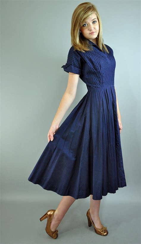 swing skirt dress 50s dress vintage day dress full swing skirt rockabilly