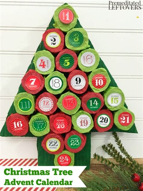 how to make an advent calendar with paper diy tree advent calendar tutorial using paper