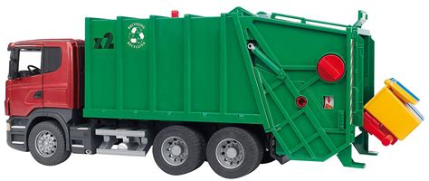 bruder garbage truck bruder toys garbage truck green 4k wallpapers