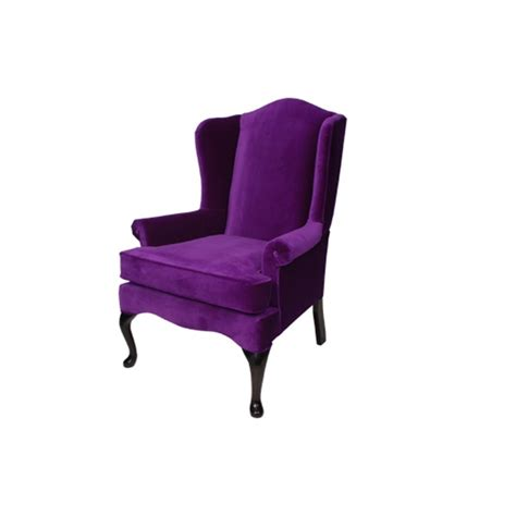 stuhl lila wingback chair purple formdecor