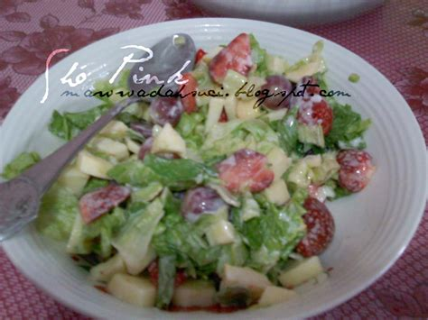 tutorial membuat salad buah salad buah buahan sho pink