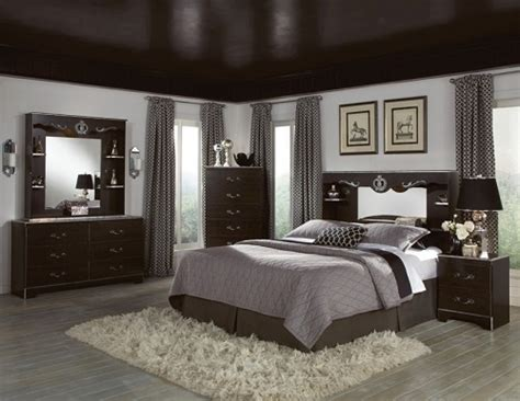 grey bedroom with dark furniture grey color schemes for bedroom design