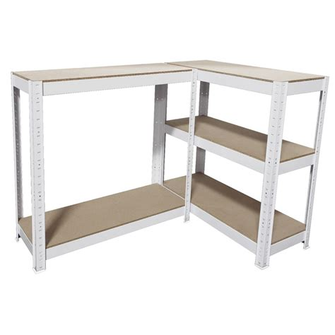 cobalt 5 shelf metal shelving unit white ebay