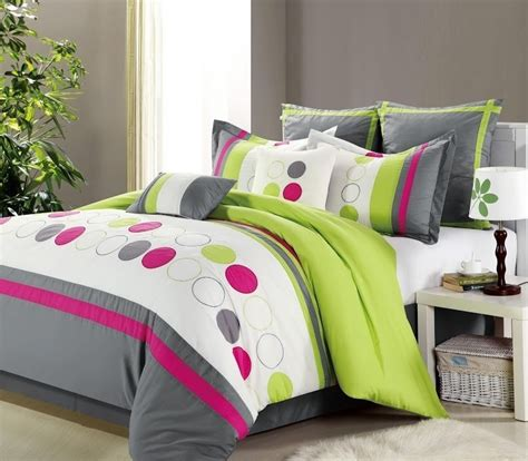 Lime Bedding Sets Clearance 8pc Luxury Bedding Set Lydia Lime Green White Gray Blowoutbedding