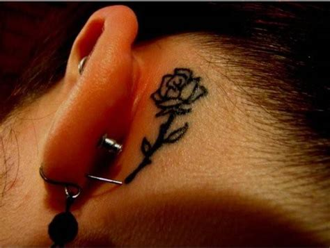 rose tattoos behind ear 42 best designs ideas model design trends