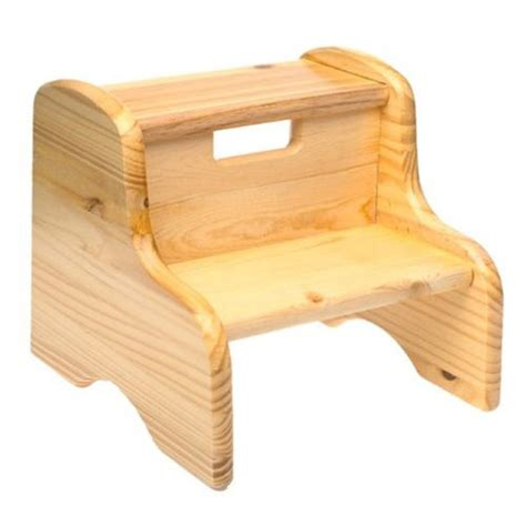 wood step stool solid pine potty concepts