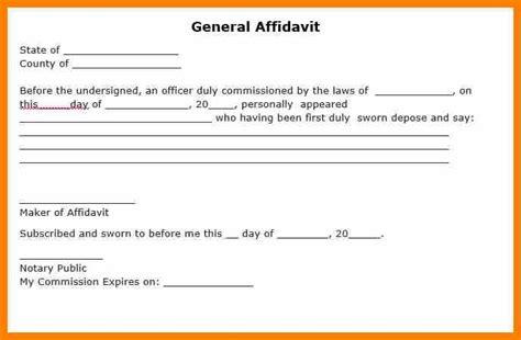 3 affidavit blank form resume pictures