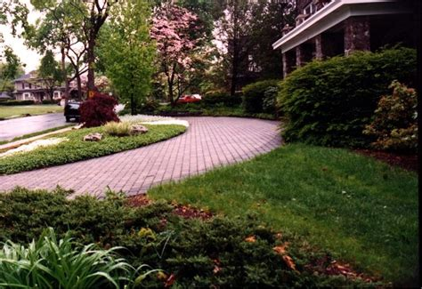 half circle brick driveway garages driveways pinterest
