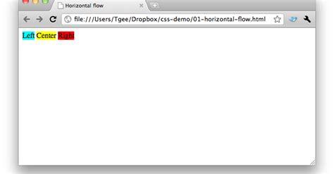 horizontal layout using css trisha s ramblings css for developers horizontal layout