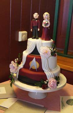 my awesome trek cake from my wedding 2 27 16 nerdy wedding trek cake