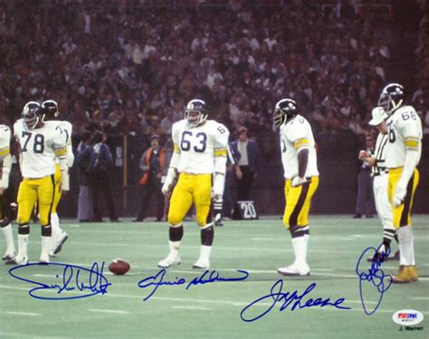 steel curtain steelers steel curtain signed photo 11x14 psa dna