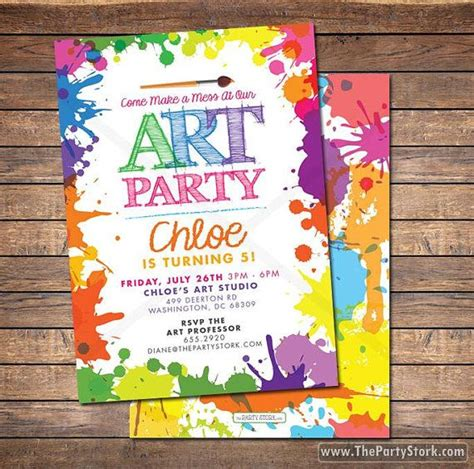 free printable art invitations best 25 art party invitations ideas on pinterest paint