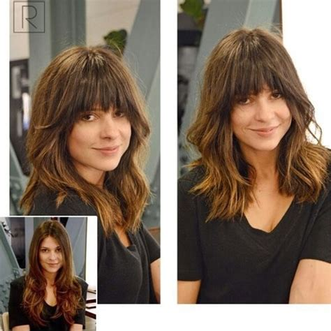 lob cut with bangs hairstyle pic 55 most beneficial haircuts for thick hair
