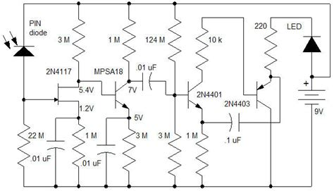 pin diode radiation detector circuit geiger counter circuits