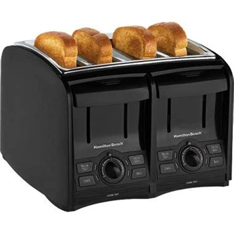 4 Slice Toaster And Toaster Oven Combo Hamilton 24121 Smarttoast 4 Slice Toaster Combo
