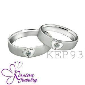 Cincin Kawin Palladium Dan Perak R3496 jual cincin kawin palladium perak dan emas