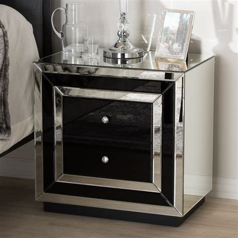 hollywood regency style mirrored furniture bedroom baxton studio cecilia hollywood regency glamour style