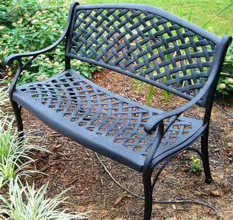 cast aluminum outdoor bench aluminum patio bench newsonair org
