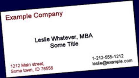 mba business cards templates note to mbas drop the comma mba tim berry