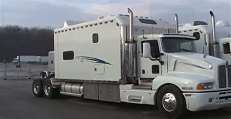 bedroom custom semi truck sleeper fit   family   road