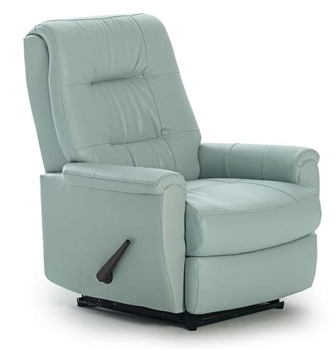 Home Recliner Chair Felicia Swivel Rocker Recliner With Button Tufted Back By