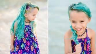 healthy hair fir 7 yr mom defends letting her 6 year old daughter dye her hair