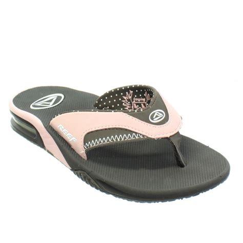 reef fanning flip flops womens womens reef fanning brown pink surf sandals