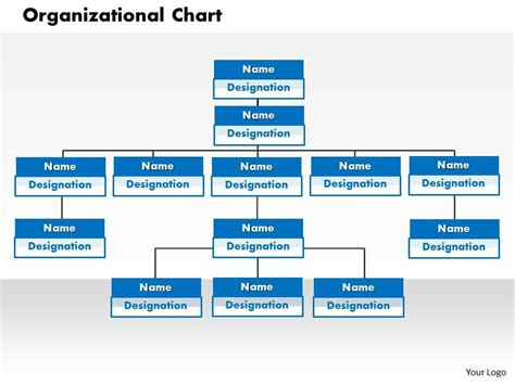 organization chart template powerpoint free organizational chart powerpoint presentation slide