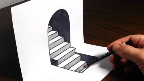 How To Make A 3d Drawing On Paper - how to draw 3d steps easy trick