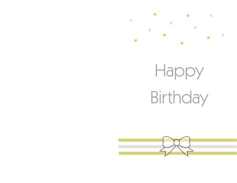 Happy Birthday Card Template by Free Printable Birthday Cards Ideas Greeting Card Template