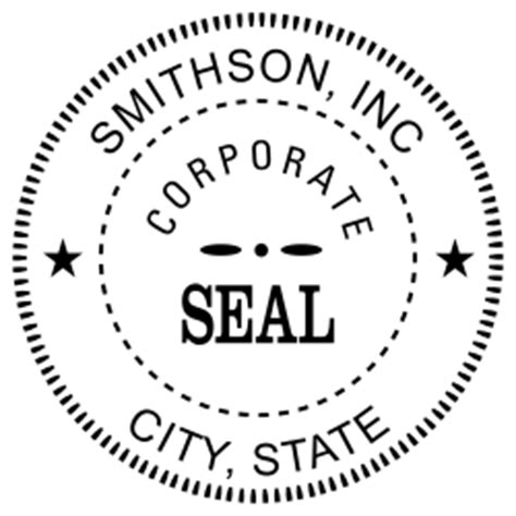 Custom Business Seal Embosser Simply Sts Corporate Seal Template