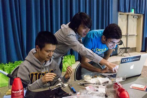 ucla hardware hackathon teems  energetic innovation daily bruin