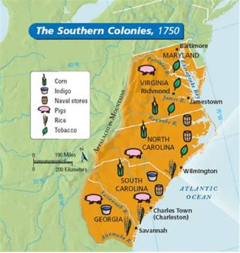 southern colonies map colony regions 7th grade humanities