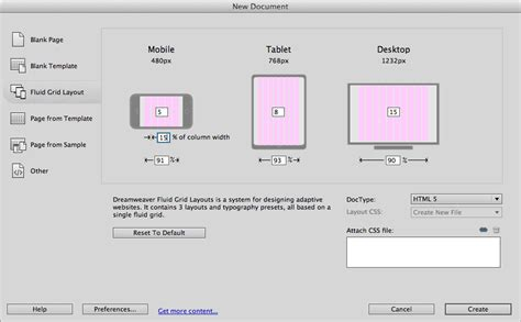 css grid layout fluid the top features of dreamweaver cs6 css menumaker