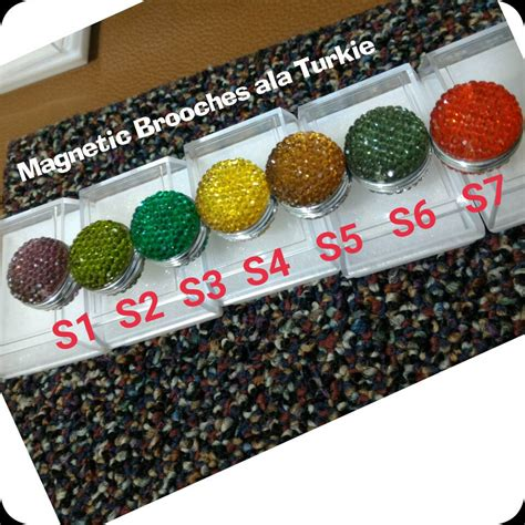 Klip Tuspin Turki Bermata Bros grosir pin bross magnet magnetic brooches jilbab kerudung mewah unik murah grosir pin