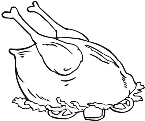 healthy food chicken meat food coloring pages