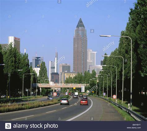 zeil shopping promenade germany europe frankfurt hessen fair tower skyline street