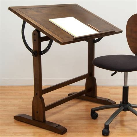 Wood Drafting Table Vintage Wood Drafting Table