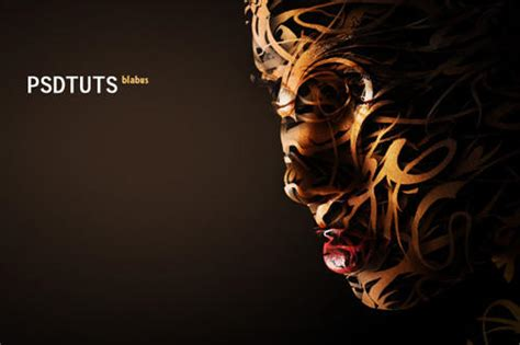 typography portrait tutorial photoshop cs3 40 superb photoshop tutorials for attractive photo effects