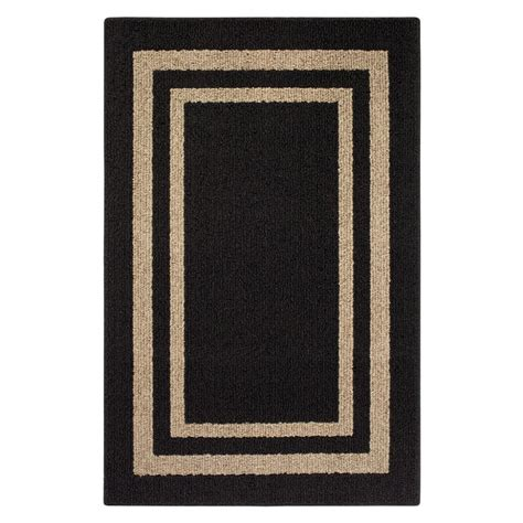 Black Accent Rug | frame border black accent rug maples rugs