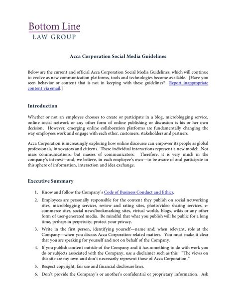 social media policy template and resources