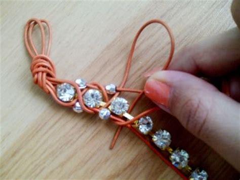 Handmade Jewelry Tutorials - berrilla diy rhinestone bracelet bracelet made