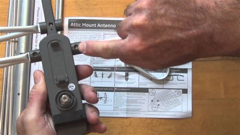 ge 24792 attic mount antenna unboxing and assembly