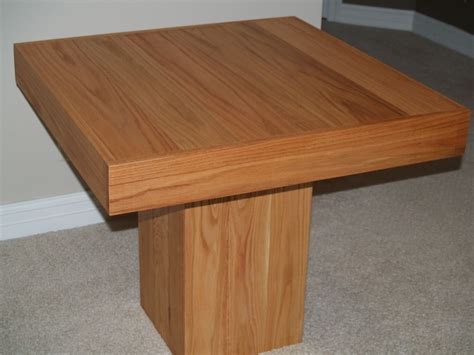 Small Square Butcher Block Dining Table For Small Space