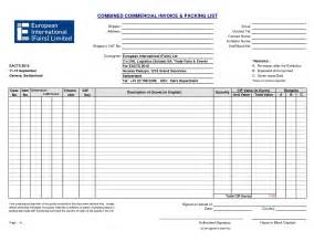 commercial packing list template pin combined commercial invoice packing list pdf on