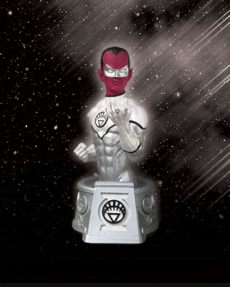 heroes of the dc universe blackest white lantern sinestro bust raving maniac the