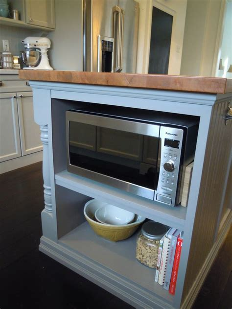 microwave in island in kitchen 25 best ideas about microwave cabinet on