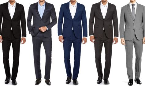 Blazer Jas Pria Slim Fit Hitam 1 Renoir S Slim Fit Suits 2 Groupon