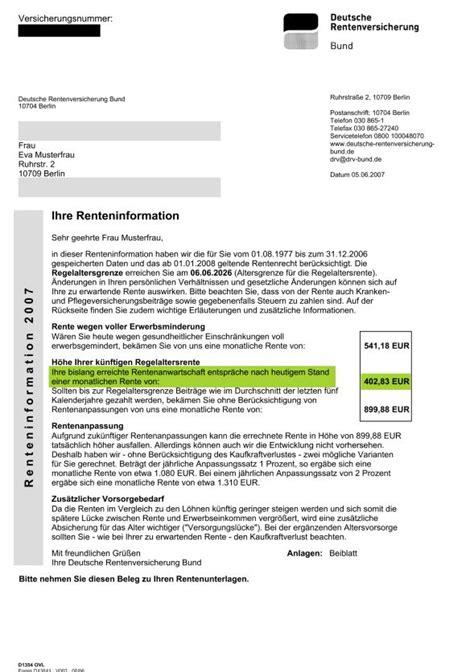 Muster Kündigung Rente Mit 63 Der Ypos Rentenverm 246 Gensrechner Ypos Finanzplanung Gmbh