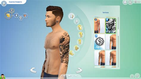 sims tattoo my sims 4 artsy set by aduncan